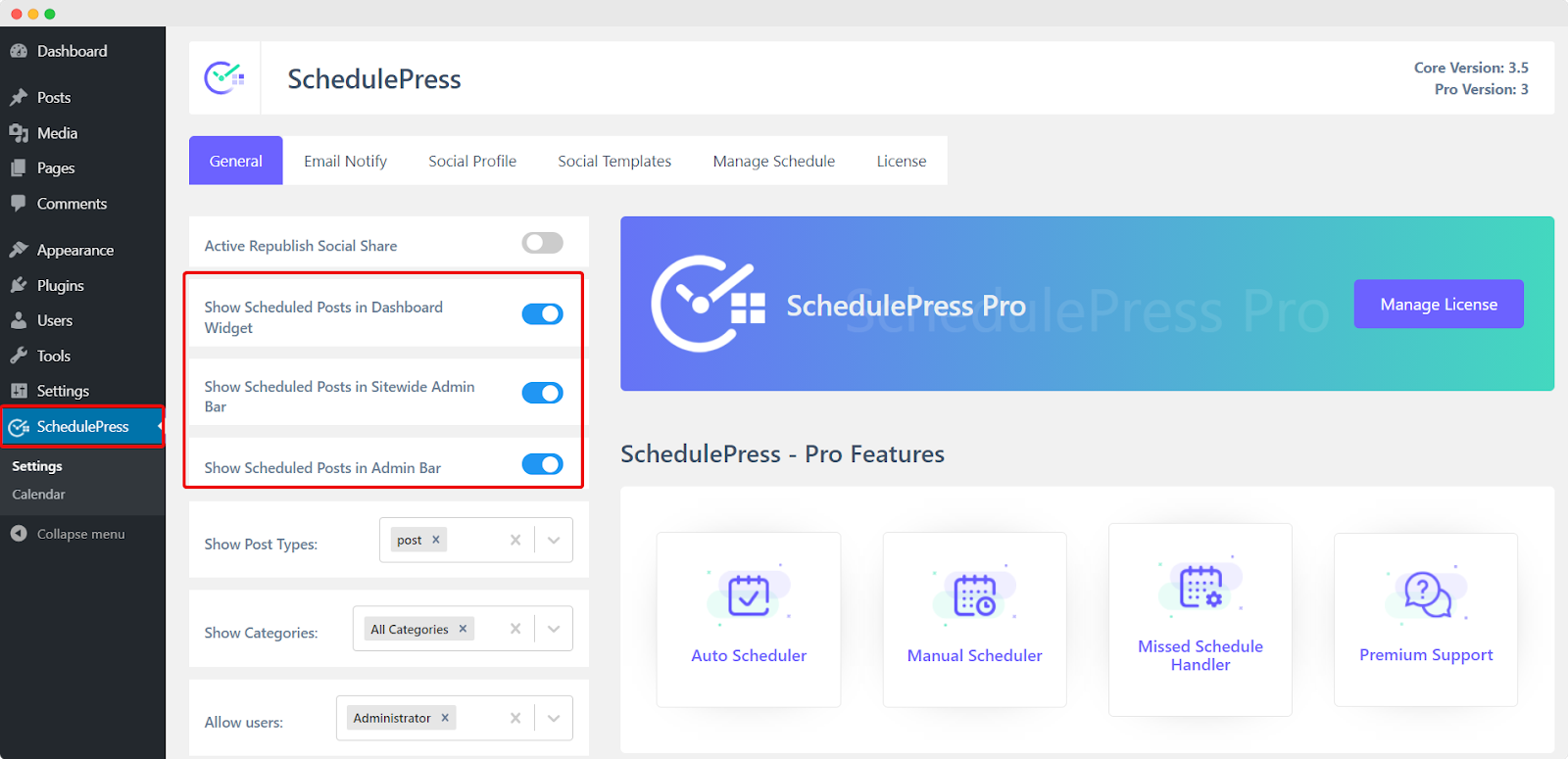 Install and Set Up SchedulePress