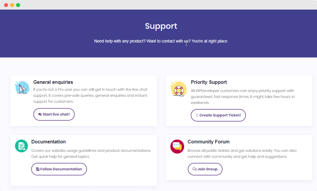 Get Support 1