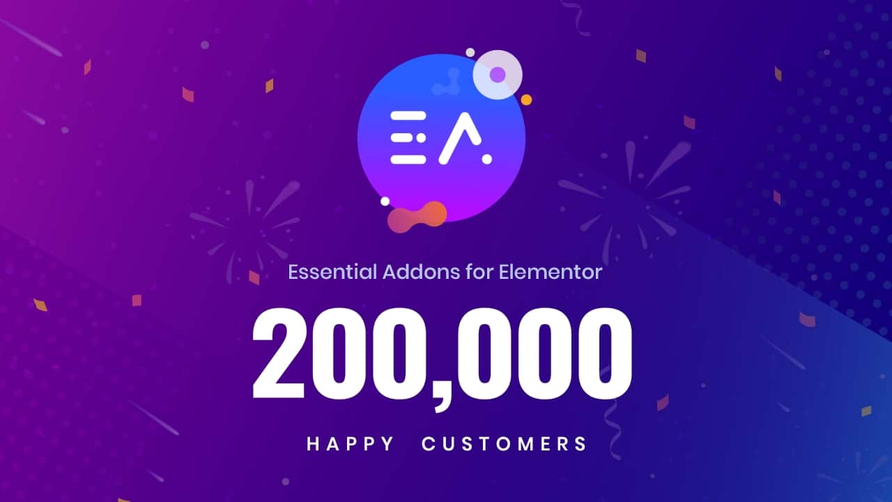 Most Popular Elementor Addons Library: Essential Addons Hits 400,000+ Active Users 3
