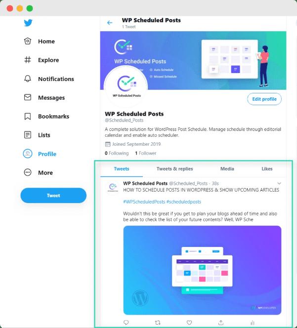 Automatically Tweet wordpress blog