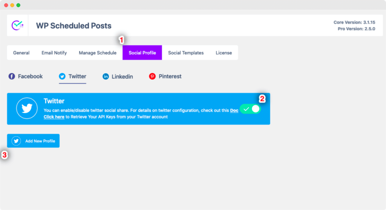 Share Scheduled WordPress Posts Twitter