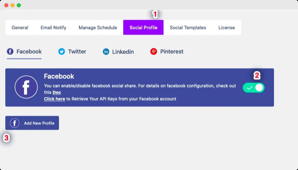 Share scheduled Posts Facebook