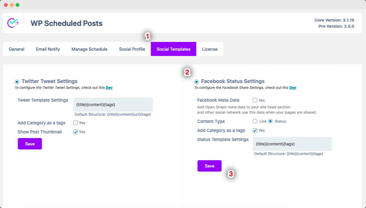 Share WordPress Posts Facebook