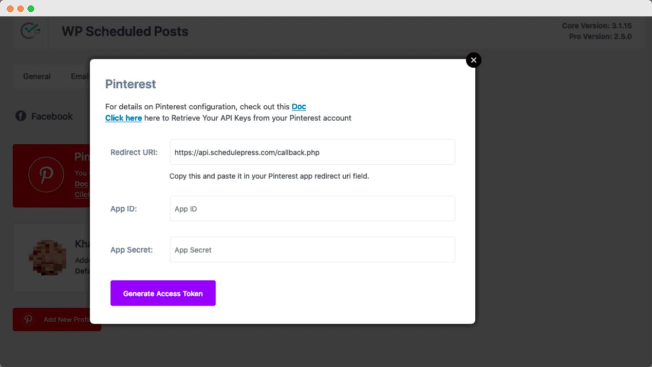 WordPress Posts Pinterest