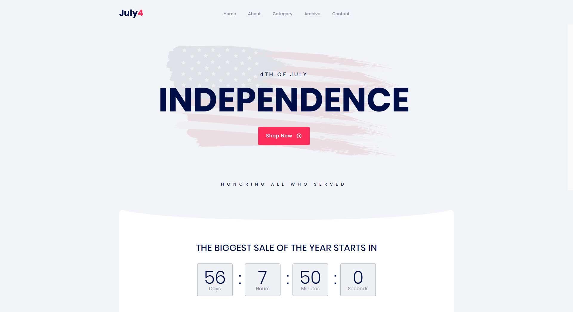 Independence Day Website