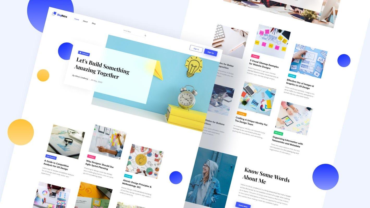 Blog Metro Elementor Template Pack