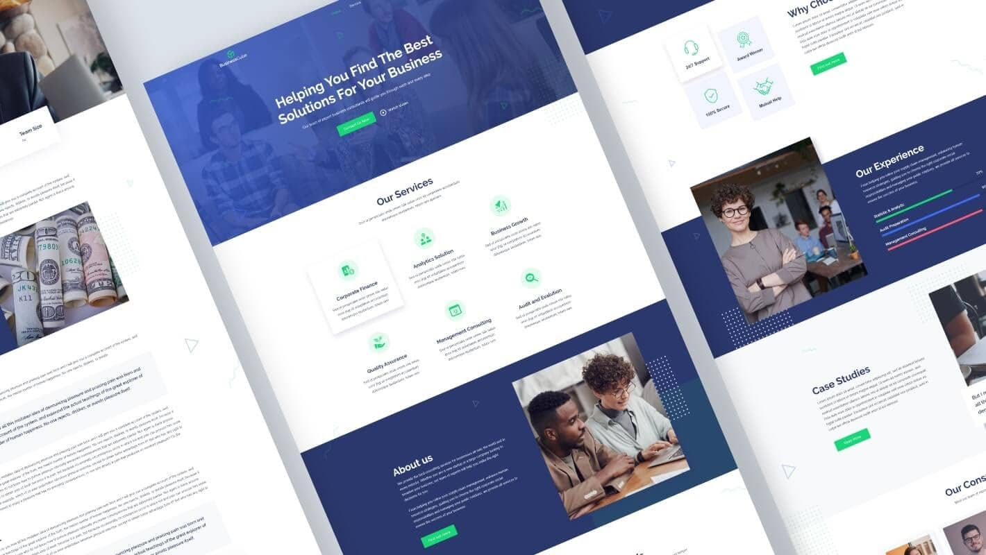 Business Cube Elementor Template Pack
