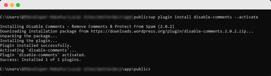 WordPress Comments Using WP-CLI