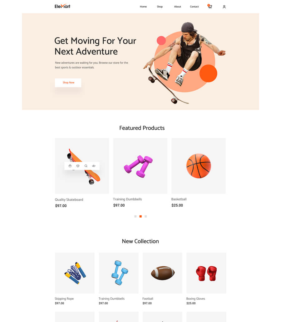 EleMart: Best Multipurpose Templates For Elementor To Build Any Website Without Coding 9