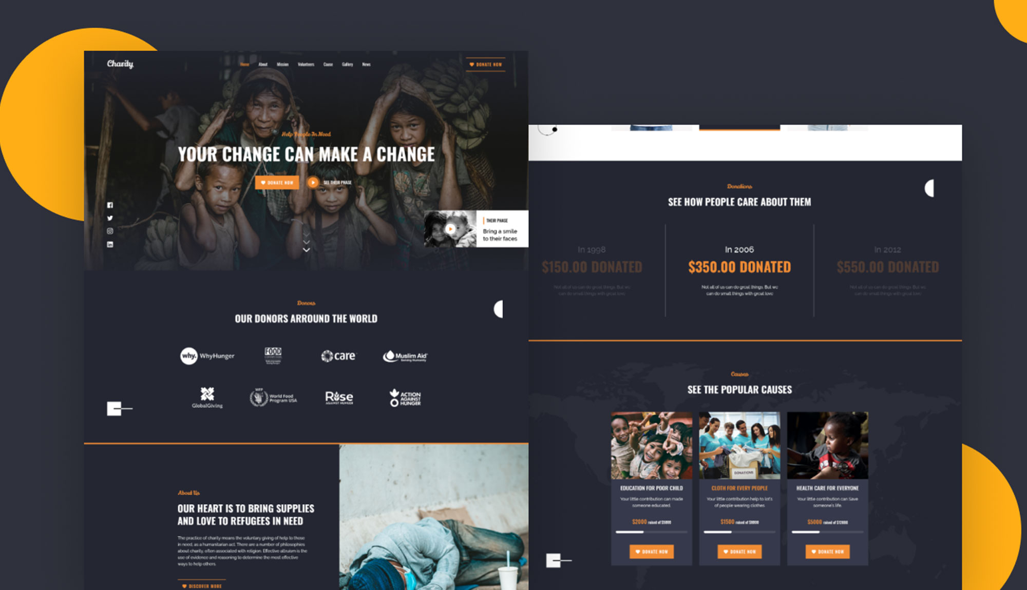 Hope - Charity/Non-profit Website Template