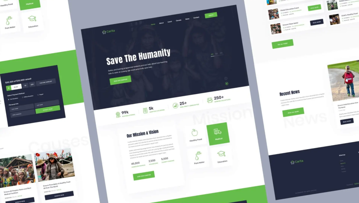 DoNation - Charity Template